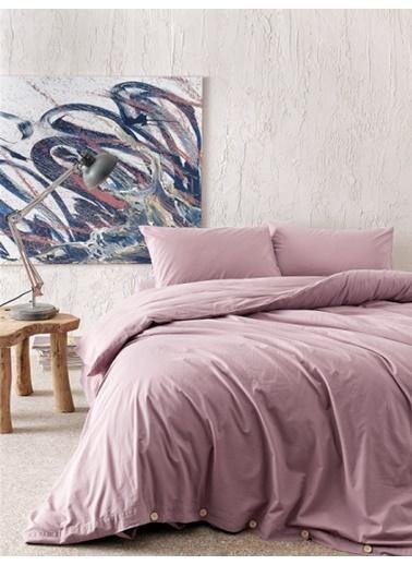 Hibboux 160x220 Vogue Yıkamalı Nevresim + Yastık Kılıfı - Mauve Renkli